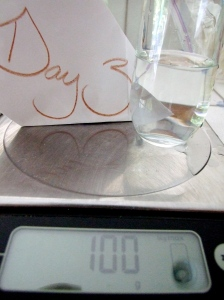 Stir in 100g of room temperature water.....