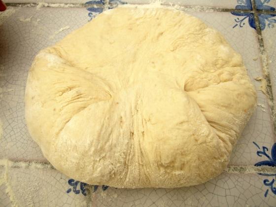 Rotate dough 180 degrees
