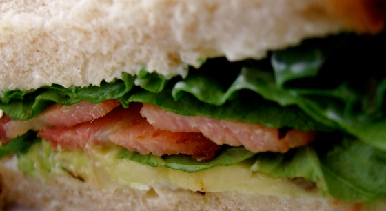 Bacon Basil Sandwich