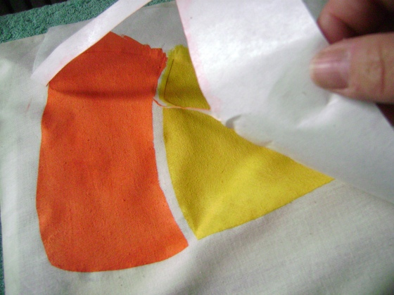 Once its dry, carefully peel the paper off and discard it.