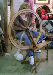 Spinning wheel, they always make me think of Rumplestiltskin...