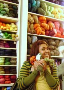 New skeins, new ideas but will Florrie get knitting ADHA half way through?