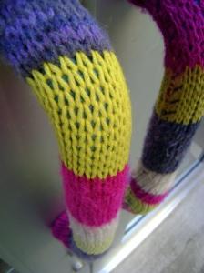 Knitted door handle cosies