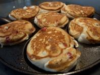 Cranberry Pancakes with Orange Honey Maple Syrup
