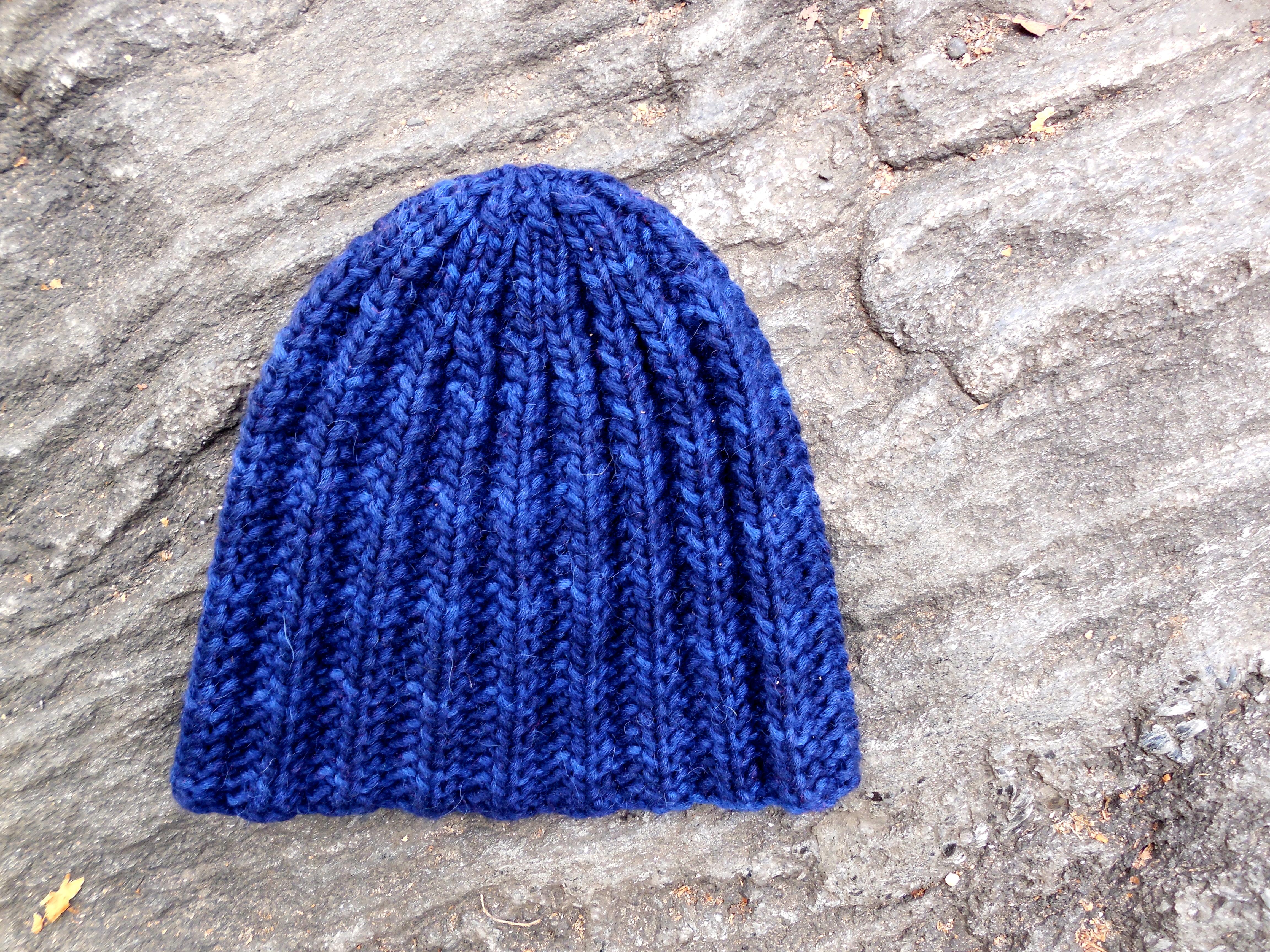 Knit Rib Stitch Hat : Free Pattern : Steinway Hat FlorrieMarie