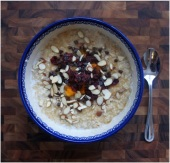 oatmeal, oats, healthy, breakfast, coconut, almonds