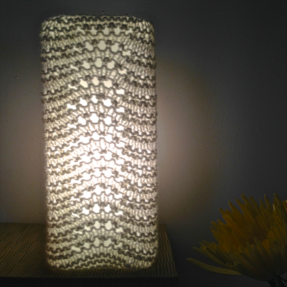 Free Pattern: Knit Lamp Shades (4/4)